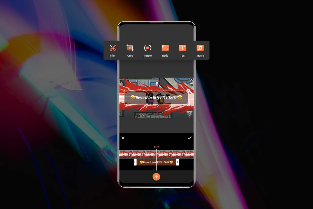 Vidma recorder support video editing functions